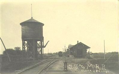 Cedar Springs tower and depot